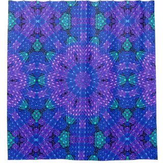 Glass Effect Mosaic Purple/Blue Shower Curtain