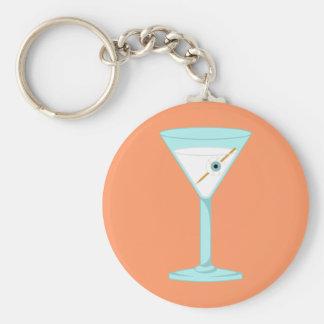Glass Eye Human Eyeball Martini Keychain