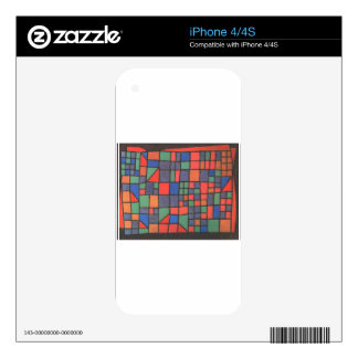 Glass Facade by Paul Klee Skins For iPhone 4