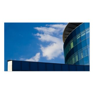 glass facade - corporate building business cards