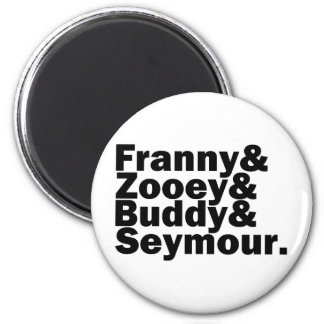 Glass Family 2 Inch Round Magnet