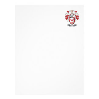 Glass Family Crest Coat of Arms Letterhead