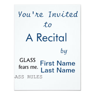 Glass Fears Me, Bass rules! black text Card