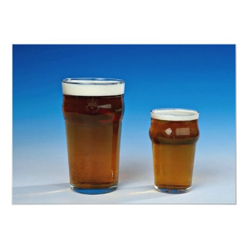 Glass filled with beer 5x7 paper invitation card