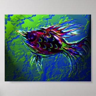 Glass Fish Print