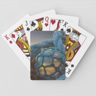 Glass fishing float, Sunset, Alaska Playing Cards