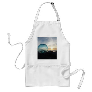 Glass float and sunset adult apron