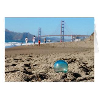 Glass float at Baker's Beach Card