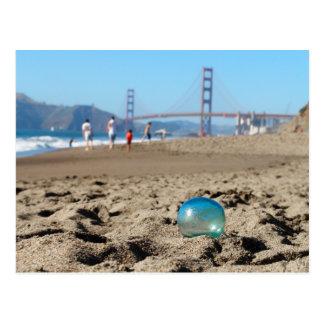 Glass float at Baker's Beach Postcard