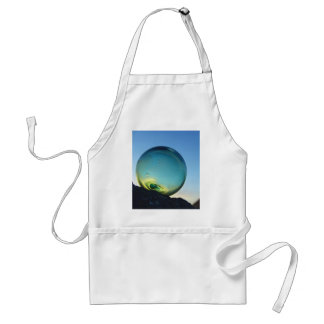 Glass float at sunset adult apron
