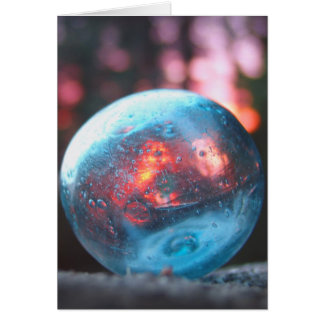 Glass Float at Sunset Card