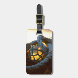 Glass float glows at sunset, Alaska Tag For Luggage