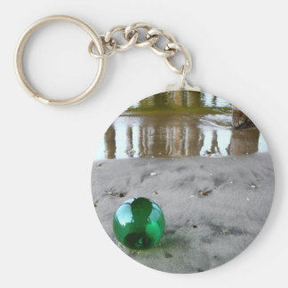 Glass float under pier keychain