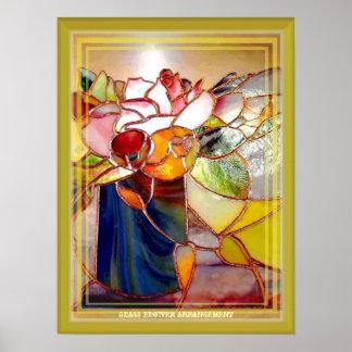 Glass Flower Arrangement Fashion Art Poster