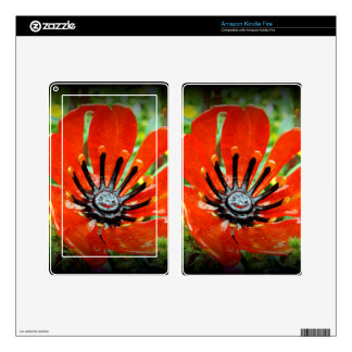 Glass Flower Kindle Fire Decal