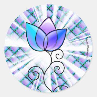 Glass flower stickers