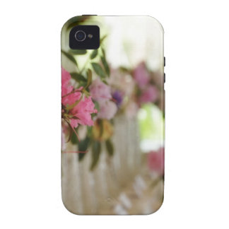 Glass flower vases with spring flowers Case-Mate iPhone 4 cases