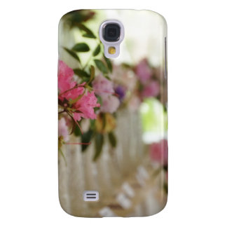 Glass flower vases with spring flowers HTC vivid case