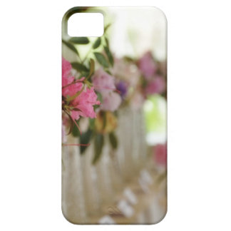 Glass flower vases with spring flowers iPhone 5 cases