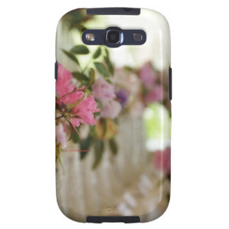 Glass flower vases with spring flowers samsung galaxy SIII covers