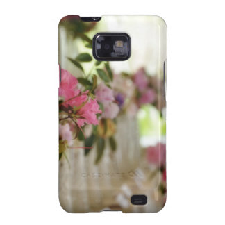 Glass flower vases with spring flowers galaxy s2 case