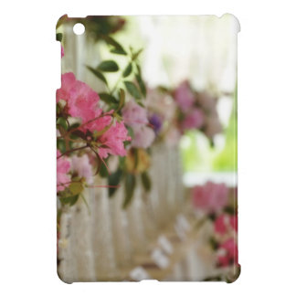 Glass flower vases with spring flowers iPad mini cases
