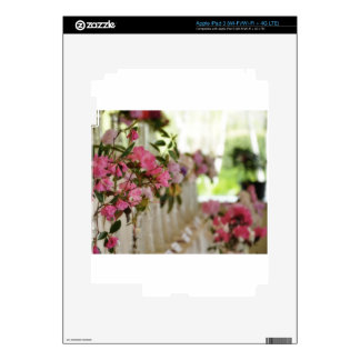 Glass flower vases with spring flowers iPad 3 decal