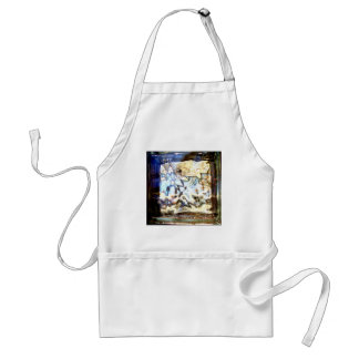 Glass Flowers Abstract Designer Accents Adult Apron