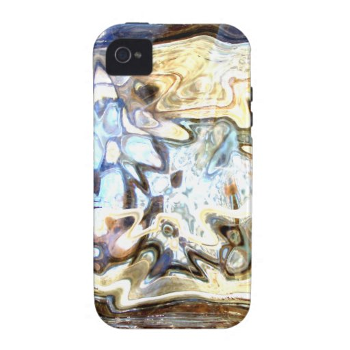 Glass Flowers Abstract Designer Accents iPhone 4 Case