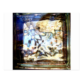 Glass Flowers Abstract Designer Accents Postcard