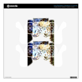 Glass Flowers Abstract Designer Accents Skin For PS3 Controller
