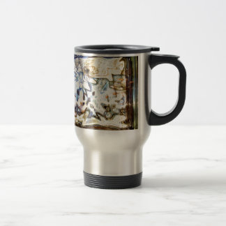 Glass Flowers Abstract Designer Accents Travel Mug