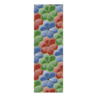 Glass Flowers Bookmark Business Card