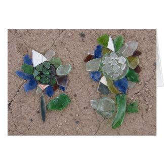 Glass flowers card