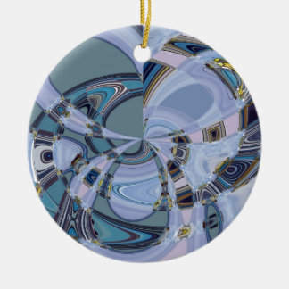GLASS FLOWERS CERAMIC ORNAMENT