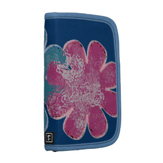 Glass Flowers (pink/teal/navy) Folio Planners
