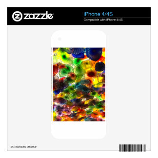 GLASS FLOWERS SKIN FOR THE iPhone 4S