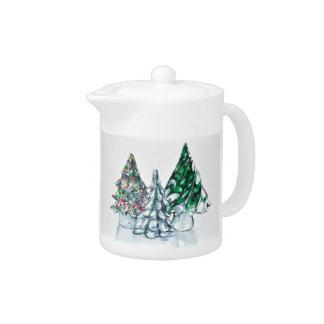 Glass Forest Teapot
