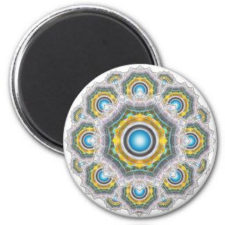 Glass Fractal 2 Inch Round Magnet