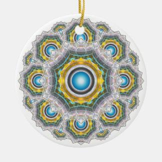 Glass Fractal Ceramic Ornament