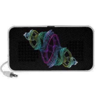 Glass Fractal Notebook Speakers