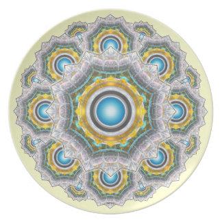 Glass Fractal Plate