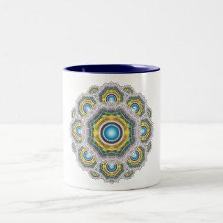 Glass Fractal Two-Tone Coffee Mug