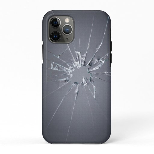 Glass fragmented design for mobile phone cases
