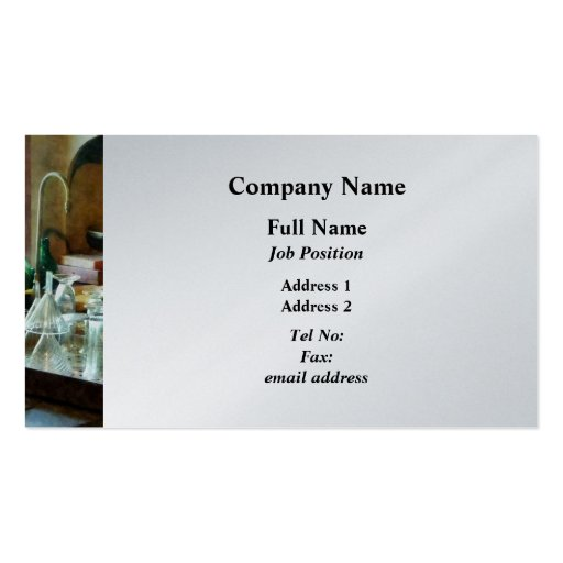 Glass Funnels and Bottles - Platinum Double-Sided Standard Business Cards (Pack Of 100)
