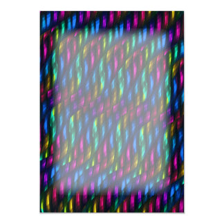 Glass Gem Blue Magenta Mosaic Abstract Artwork Card