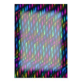 Glass Gem Blue Magenta Mosaic Abstract Artwork Card