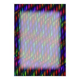 Glass Gem Blue Red Mosaic Abstract Artwork Card