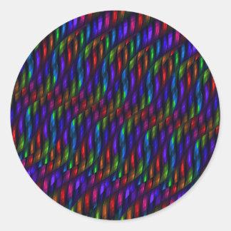 Glass Gem Blue Red Mosaic Abstract Artwork Classic Round Sticker