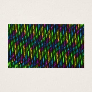 Glass Gem Green Blue Mosaic Abstract Artwork Business Card
